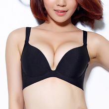 Adjustment One piece Seamless Padded Bra With Removable Straps