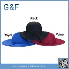Factory Price Soft Faux Ladies Wide Brim Wool Felt Hat