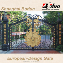 Oriental outdoor beautiful iron gate and fence