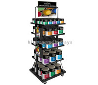 Home Decoration Material Retail Store Metal Multi-Layer Flooring Color Oil Wall Paint Display Rack