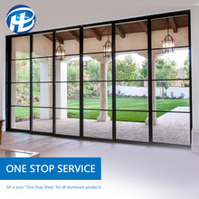 latest house new burglar window proof aluminium metal sliding french window grill french doors window design