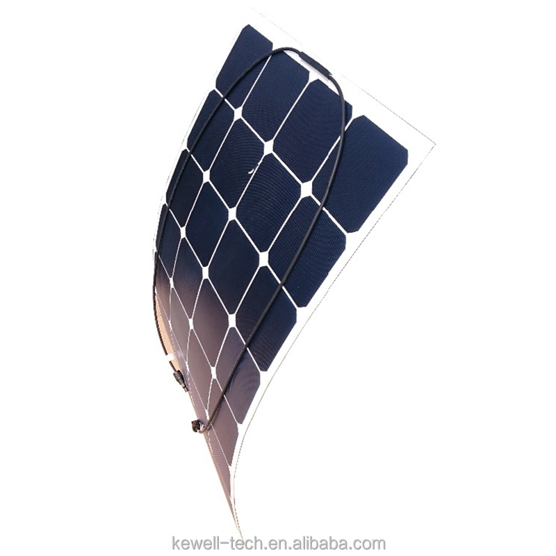 Practical Efficiency Transparent 12v 120w Monocrystalline Semi Flexible Solar Panel