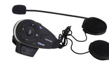 Vnetphone V5 full duplex motorcycle bluetooth device to communicate via bluetooth