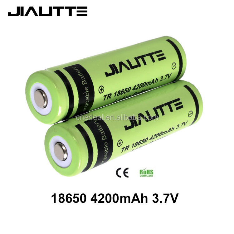 Jialitte C008 18650 rechargeable Battery 3.7V 4200mAh Li-ion Flashlight Torch Battery 18650 manufacturers