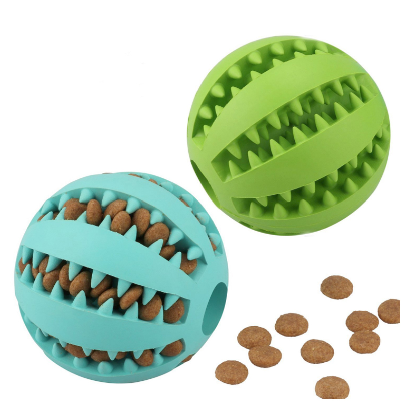 Pet Products Rubber Food Dispensing Chew Dog Toy