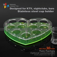 customized wholesale acrylic hotel bullet swollowing shooter cup holder tray shot glass holder for shot ski