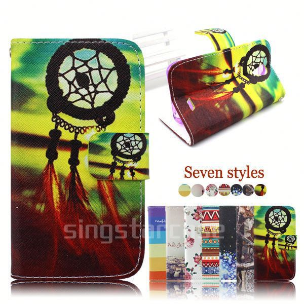 wallet leather case back cover for lenovo s820