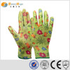 sunnyhope nylon nitrile coated knit gloves with pattern,safety working glove