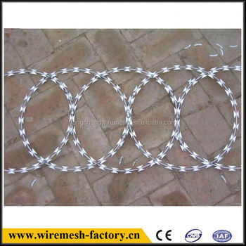 hot-dipped galvanized razor barbed wire