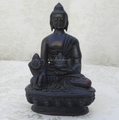 custom toy maker resin figures/customized vintage dark resin seated buddha figure in factory price