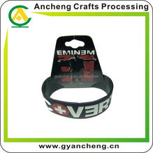 Personalised customized silicone rubber wristband bracelet for fashion accessory
