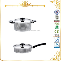 MSF-3056 frying pan cookware set stainless steel hot pot casserole bakelite handle and knobs