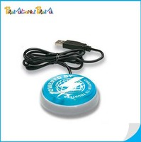 Plastic Round USB Smart Button with Web Key, USB Light Up Web Key Button