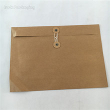Recycled Cheap Brown Kraft Paper String Tie Envelopes Customized For Mailing Express Package