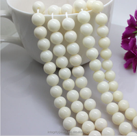 8mm A grade round good cheap natural white coral beads for sale