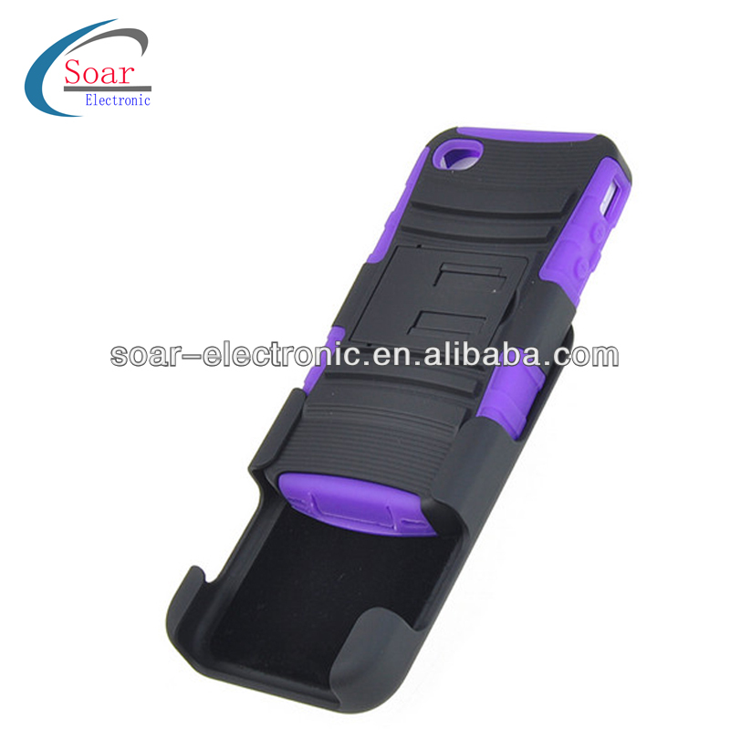 Black Holster Combo Case with Belt Clip for iPhone 4 4s
