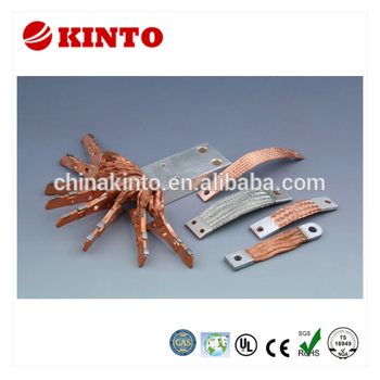 New design braided copper flexible connector, copper grounding strap