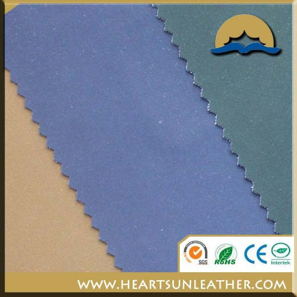 PU leather material same with sheep leather emboss for garment and jacket usage