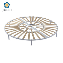 Modern Romantic Folding Wood Round Bed