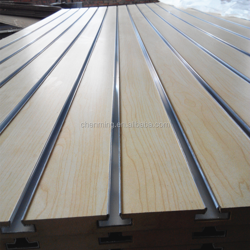 Melamine or PVC slotted MDF board