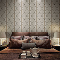 2015 removable self-adhesive non-woven office wallpaper designs (0.53*10m)