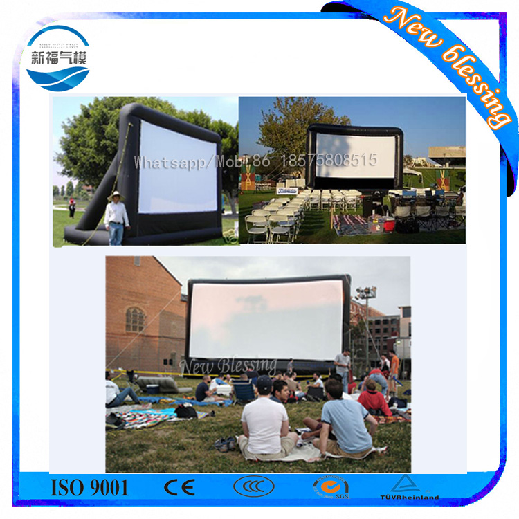 Advertising inflatable cinema screen,portable inflatable tv screen for sale