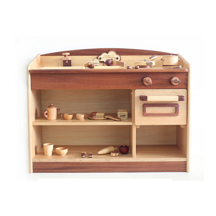 Wholesale child wood toy kids kitchen set toy For Sale
