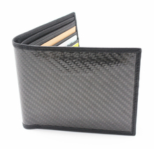 New Style Genuine Leather Carbon Fiber Wallet