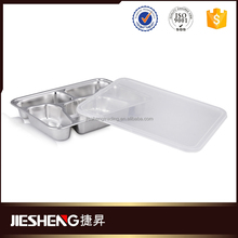 0.7mm food tray wholesale stainless steel divided dinner plate