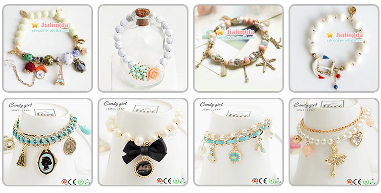 L1478 Candygirl brand handmade bird bracelets jewwelry women accessories bangle pearl alloy bracelet charm