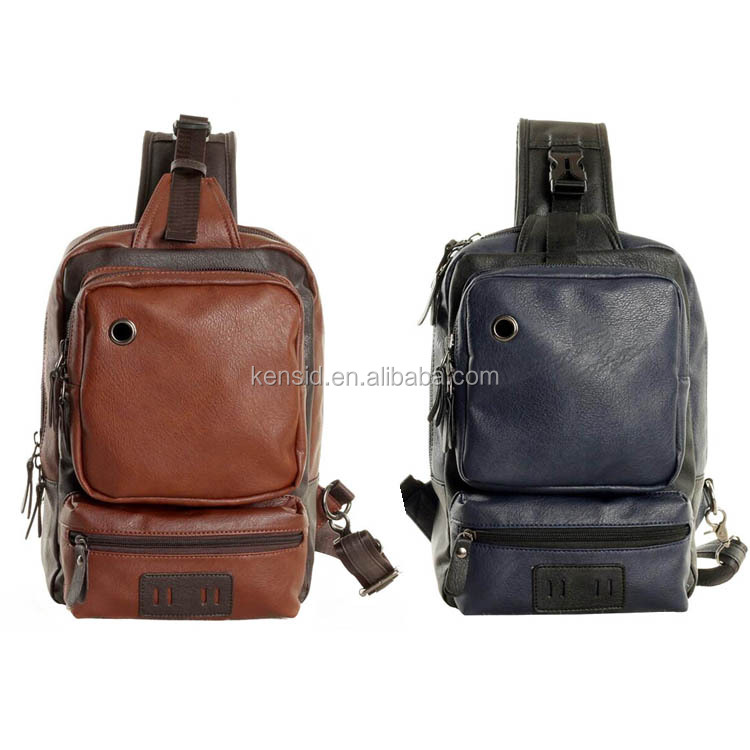Hot Sale Sport Crossbody Cuatom PU Leather Messenger Bag Men