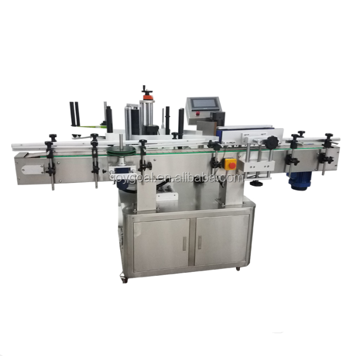 JOYGOAL Full-automatic water/juice/milk bottle filling capping and labeling machine with lowest price