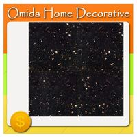 Promotion custom cut marble/custom cut to size black galaxy granite/latest granite tile prices