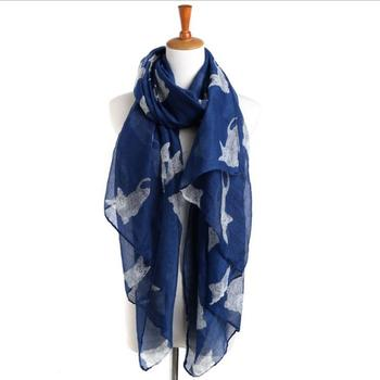 2019 Wholesale Fashionable Women Scarves The Cat Print Voile Women Scarf Shawl