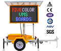 OPTRAFFIC Solar Power Outdoor Mobile Led Road Moving Dynamic Message Display Board Traffic Sign Vms Trailer