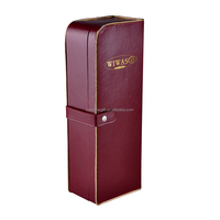 Custom luxury leather wine carrier gift box for whisky