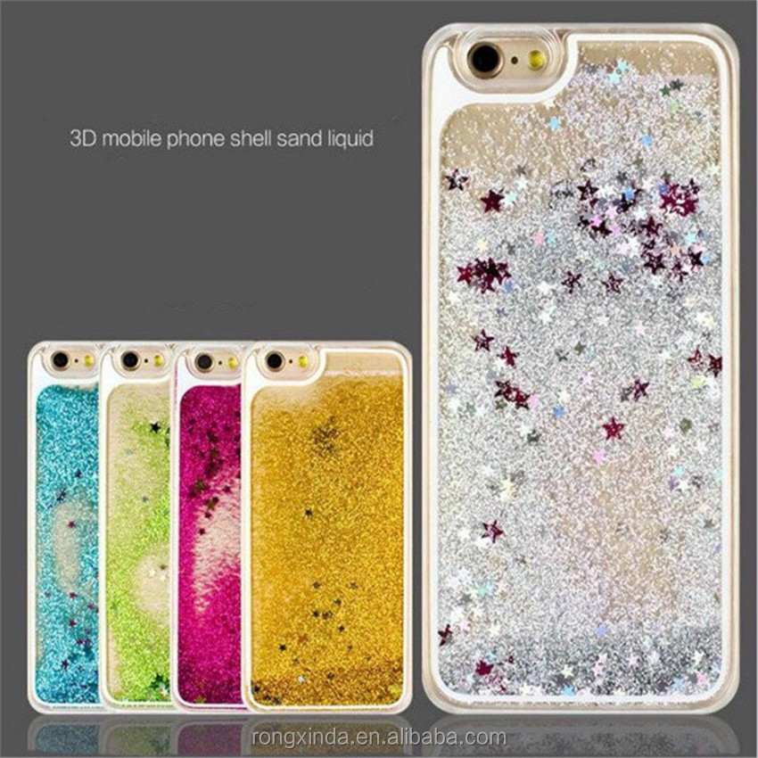 Alibaba express china free sample phone case funny flow liquid star summer case for iphone 6 7 for samsung galaxy s7 edge