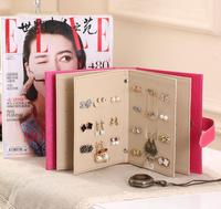 2017122706 Faithidmarket Earring Book Organizer The new earrings receive books, creative jewelry box, Full Leather Earring Box