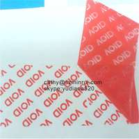 Group purchase high quality tamper evident seal label,red/blue temper evidence label