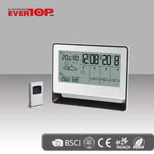2017HOT SALES WEATHER STATION CLOCK WITH LARGE DISPLAY ET818G