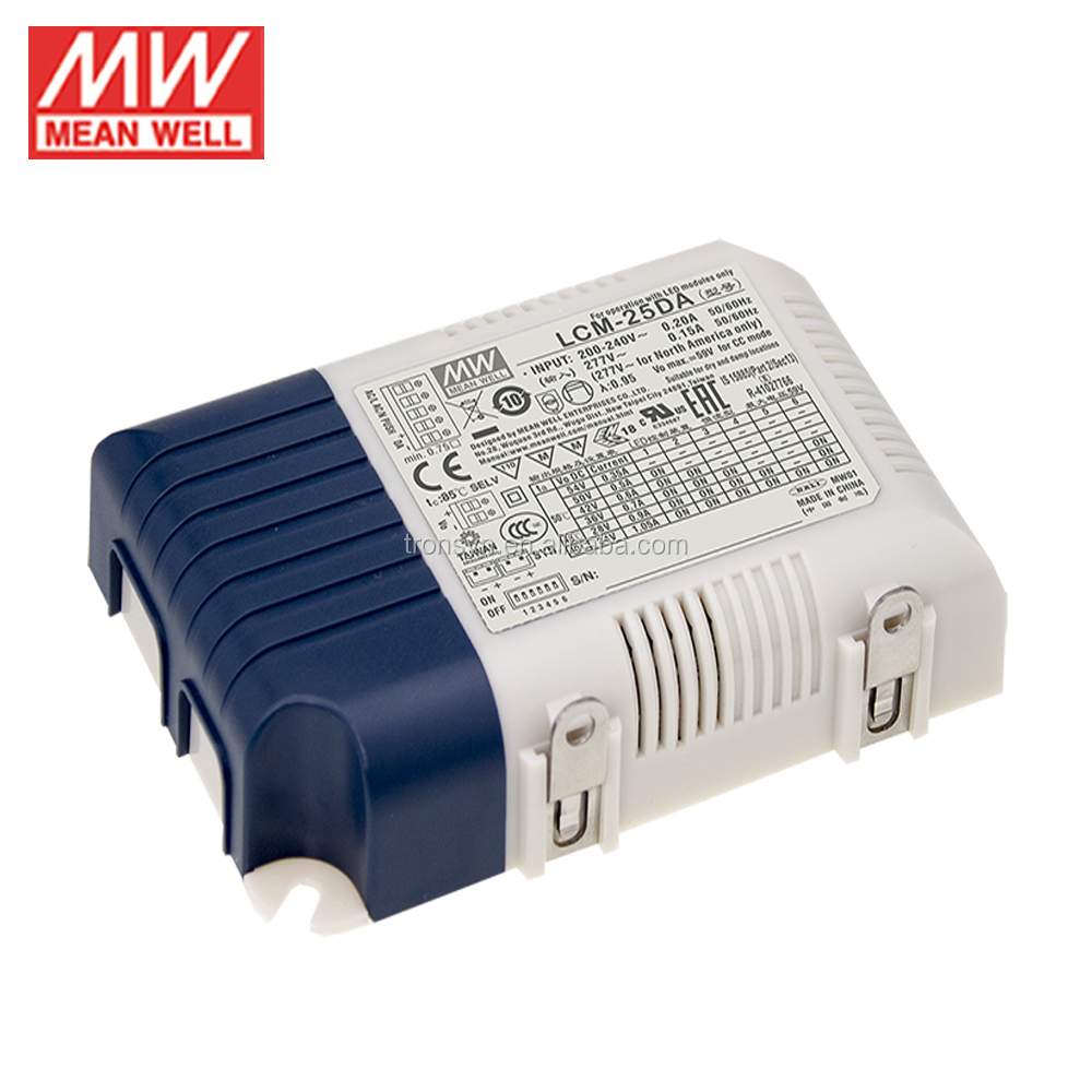Meanwell Power Supply LCM-25DA 25W 350mA Multiple-Stage Output Current LED Power Supply And 25W 350mA Meanwell LED Dali Driver