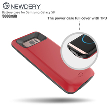 mobile phone accessories charger 2017 Portable 5000mAh Rechargeable Battery Charger Case Battery Case for Samsung Galaxy S8