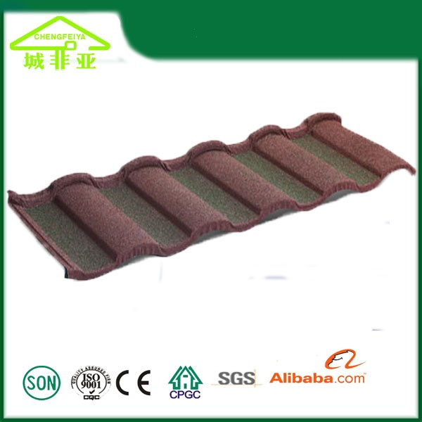 Stone chip steel roof tile