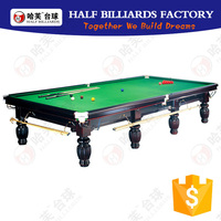 HALF BILLIARDS POOL TABLE 12ft Solid Wood/Slate Wholesale Snooker Table ( Korea billiard available)