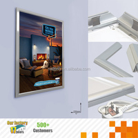 Silver aluminum snap light box for advertisements