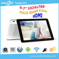 High quality 9.7 inch tablet quad core 2gb ram
