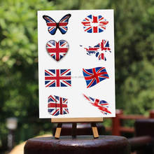 UK country flag 2016 Olympic tattoo sticker for promotion fan cheering