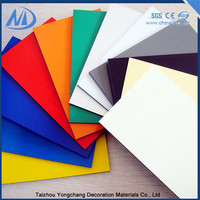 Excellent smoothness interior wall decorative aluminum composite panel,building finishing materials