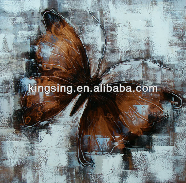 Pure handmade butterfly abstract painting on canvas, animal oil paintings wall art wholesale
