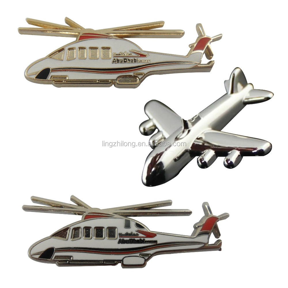 Custom Metal Badge Bulk Lapel Pin gold Airplane Lapel pin